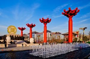 西安大唐不夜城开元广场音乐彩立方平台下载安装工程